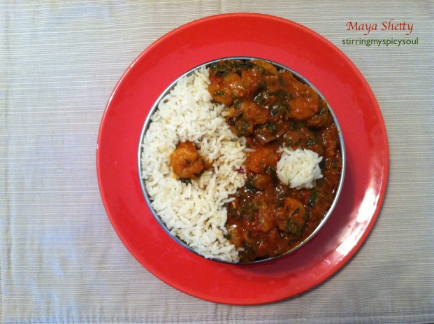 Methi (FenuGreek) Prawn Masala