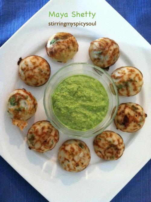 Pancake Puffs/Kuzhi Paniyaram