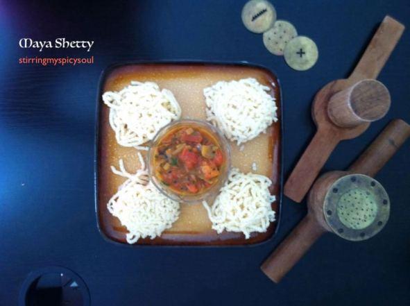 Roasted Rava/Sooji Idiyappam