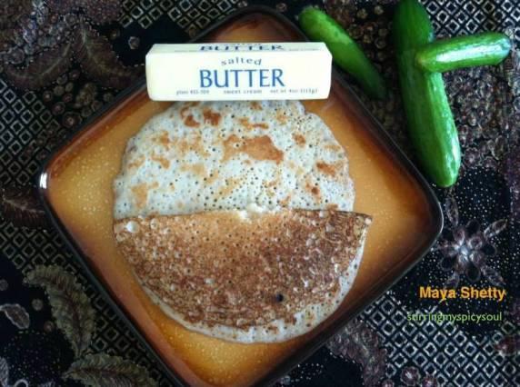 Cucumber Pancakes/ Thekkare Dosa