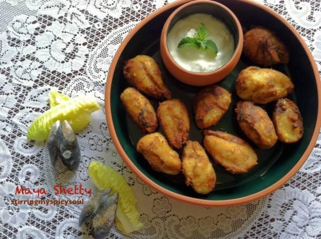 Stuffed Mussels/Kalumakkai/ Arikadukka