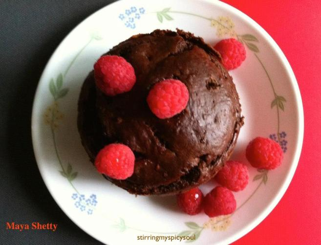 Chocolate Rasberry Avocado Cake