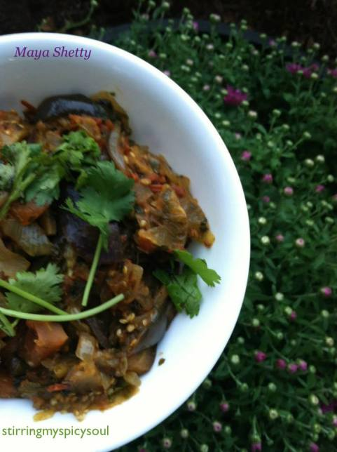 Methi Bhaingan (Fenugreek with Eggplant ) Curry