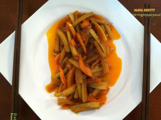 Celery & Bell Pepper Fusion Dish