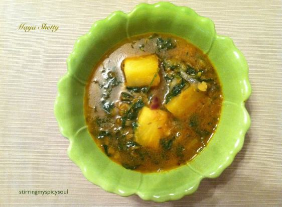 Pineapple Methi Curry