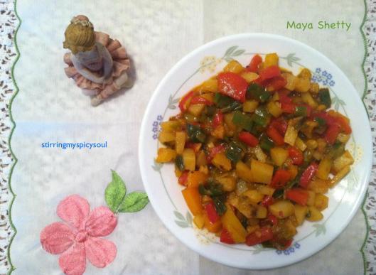 Potato Bell Pepper Bajee
